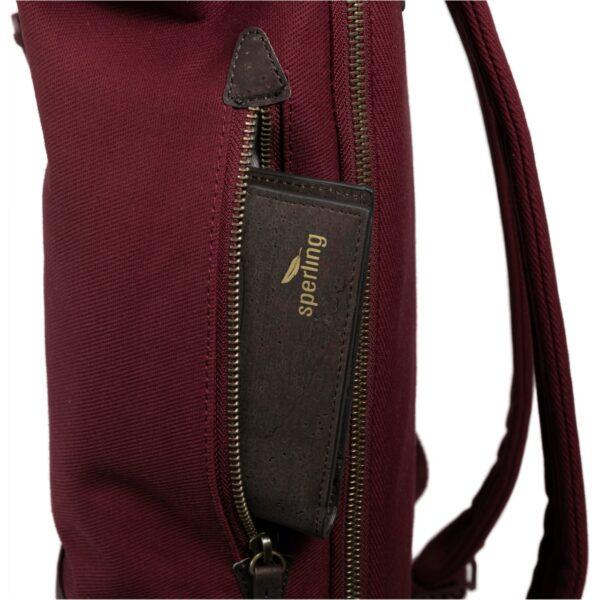 Rucksack aus Kork mit Seitenfach für Kork Portemonnaie