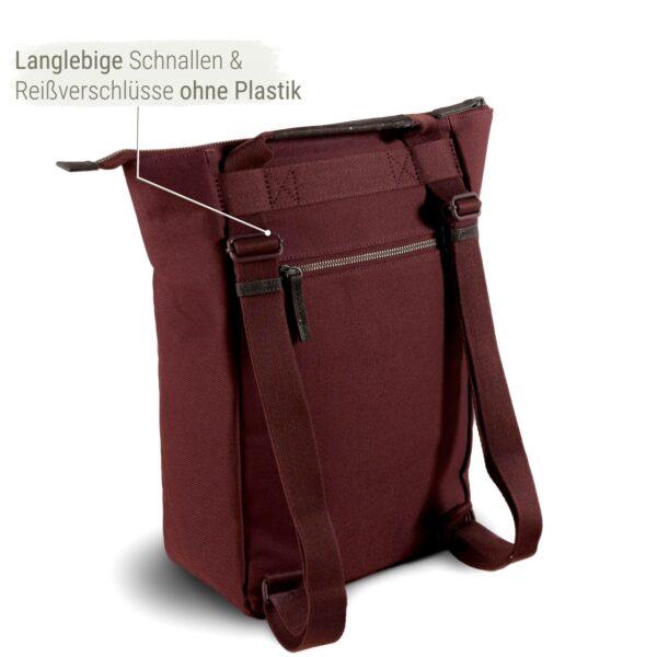 Rucksack rot nachhaltig