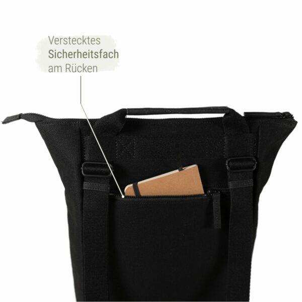 Rucksack Tasche 2 in 1 schwarz