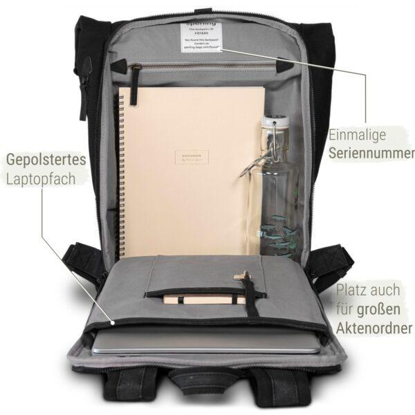 nachhaltiger Rucksack mit viel Platz