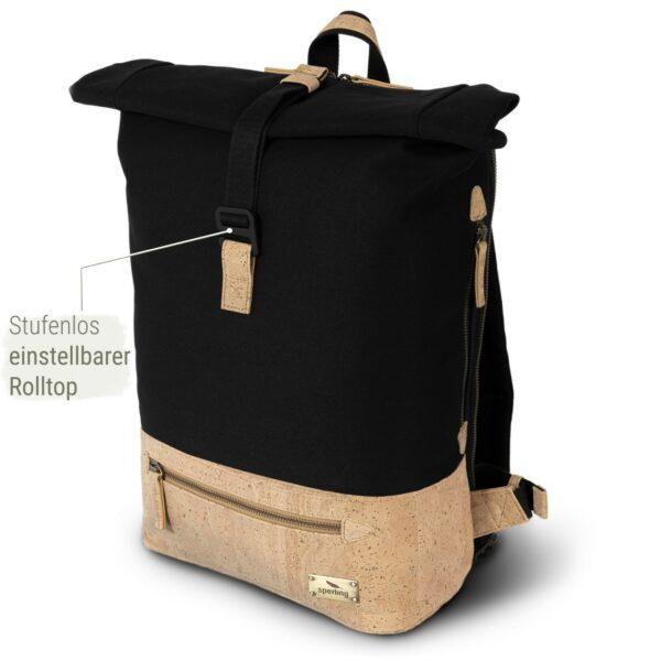 Rucksack schwarz nachhaltig