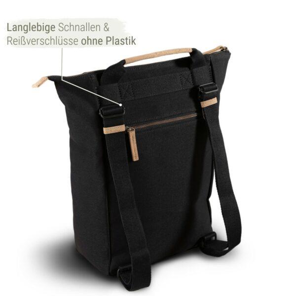 Damen Rucksack nachhaltig schwarz