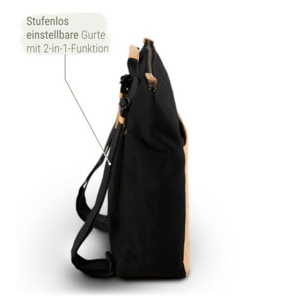 Rucksack Damen schwarz nachhaltig
